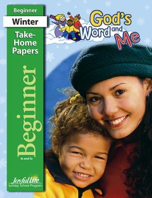 God's Word and Me Beginner (ages 4 & 5) Take-Home Papers  -