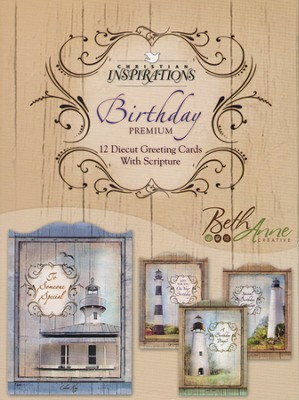 Beacon of Faith Birthday Cards, Box of 12  -     By: Beth Anne