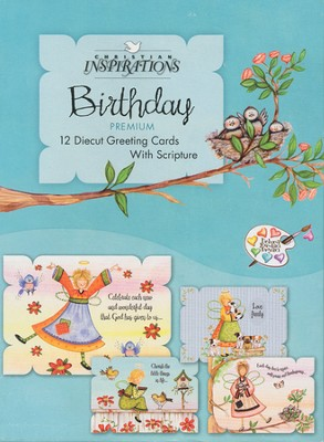 Everyday Angels Birthday Cards, Box of 12  -     By: Debra Jordan Bryan