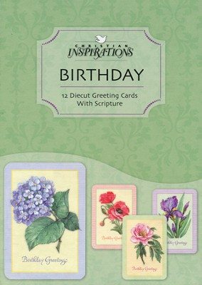 Floral Impressions Birthday Cards, Box of 12  -