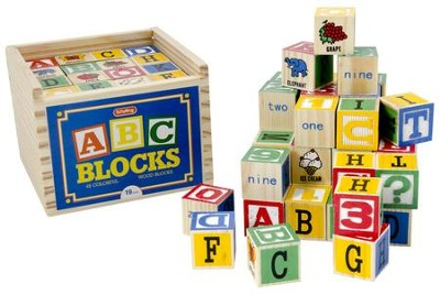 Alphabet Wood Blocks, Set of 48  -
