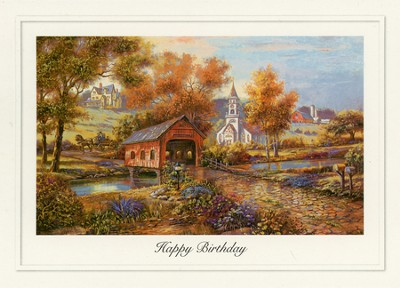 Days Gone By Birthday Cards, Box of 12  -
