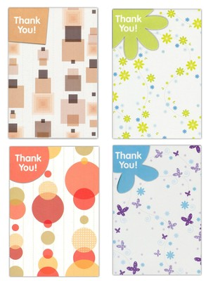 Simply Said Thank You Cards, Box of 12  -