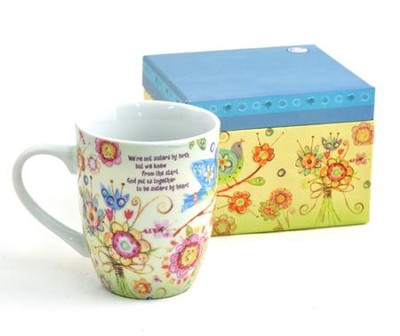 Mug In A Gift Box, Sisters By Heart  -     By: Lori Siebert