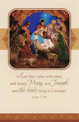 Nativity Gathering Christmas Cards, Box of 16  -