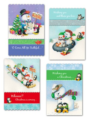 Snowman Fun Christmas Cards, Box of 12  -