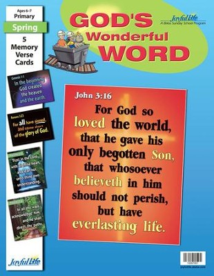 God's Wonderful Word Primary (grades 1-2) Memory Verse Visuals  -