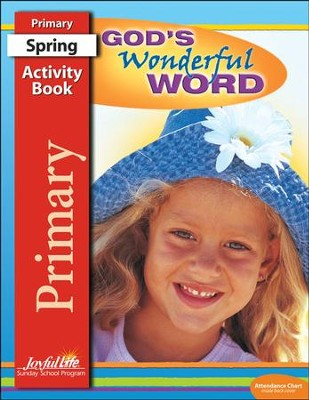 God's Wonderful Word Primary (grades 1-2) Activity Book (Spring Quarter)  -