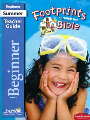 Footprints through the Bible Beginner (ages 4 & 5) Teacher Guide  -