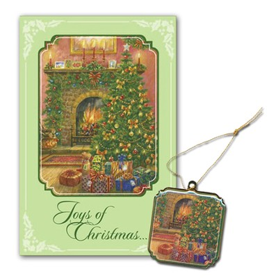 Hearth Scene Christmas Cards, Box of 16  -