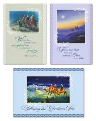Wisemen Christmas Cards, Box of 12  -