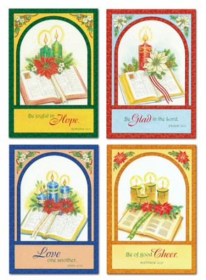 Bible and Candles Christmas Cards, Box of 12  -