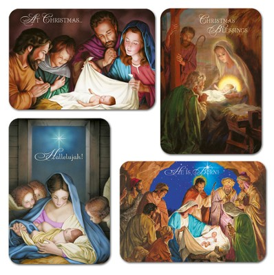 Scenes From the Nativity Christmas Cards, Box of 12  -