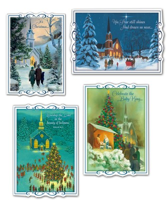 Headed to Church Christmas Cards, Box of 12  -