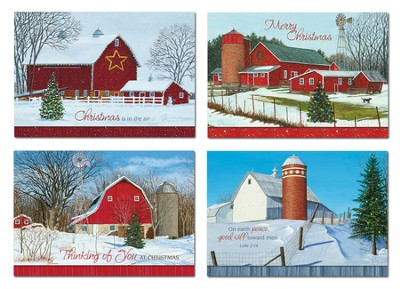 Winter Barns Christmas Cards, Box of 12  -