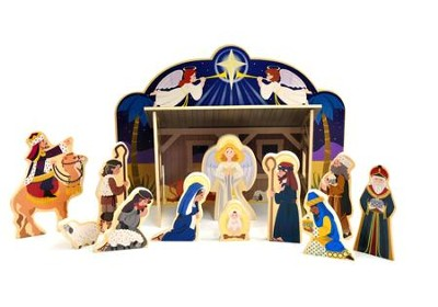 Melissa & Doug Wooden Nativity Set   -