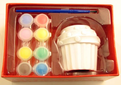 Decorate-Your-Own, Cupcake Bank  -