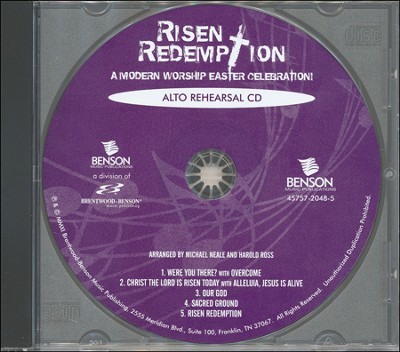 Risen Redemption (Alto Rehearsal Track CD)   -