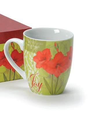 Joy Amaryllis Mug (Nehemiah 8:10)   -     By: Sandy Clough