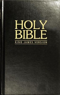 KJV Pew Bible - Black Hardback  -     By: Biblica