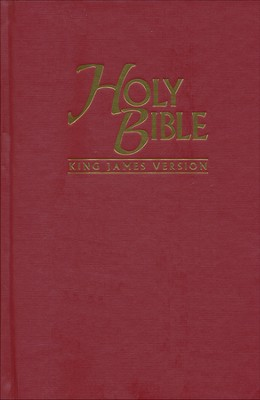 KJV Pew Bible - Red Hardback  -     By: Biblica