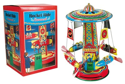 Tin Rocket Ride Carousel  -