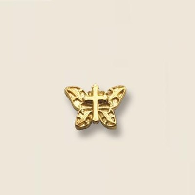 Butterfly Cross Lapel Pin  -