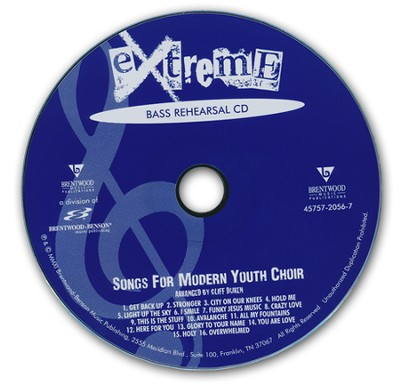 Extreme-Songs for Modern Youth Choir (Bass Rehearsal Track CD)  -