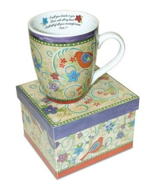 Psalm 9:1 Mug with Gift Box  -     By: Annie Lapoint