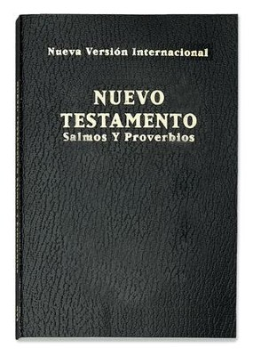 Nuevo Testamento de Bolsillo NVI, Salmos y Proverbios, Negro  (NVI Pocket New Testament, Psalms & Proverbs, Black)  -
