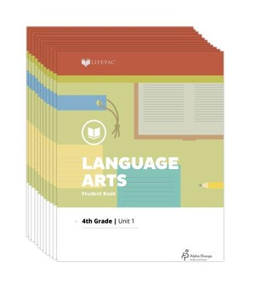 Lifepac Language Arts, Grade 4, Workbook Set   -     By: Alpha Omega