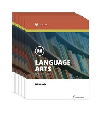Lifepac Language Arts, Grade 6, Workbook Set   -     By: Alpha Omega