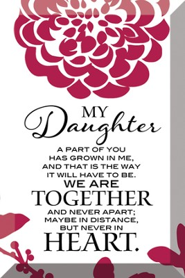 My Daughter Plaque  -