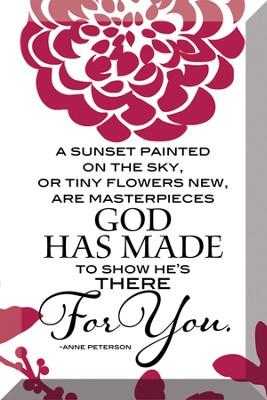 A Sunset Painted On the Sky Plaque  -