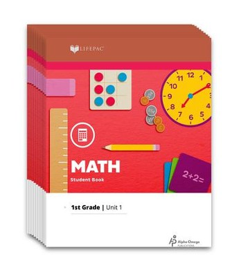 Lifepac Math, Grade 1, Workbook Set   -     By: Alpha Omega