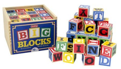 ABC Wood Blocks, Large, Set of 48  -