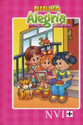 Biblia Alegría para Niñas, Enc. Dura  (NVI Children's Joy Bible for Girls, Hardcover)  -
