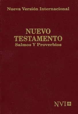 Nuevo Testamento de Bolsillo NVI, Salmos y Proverbios, Vino  (NVI Pocket New Testament, Psalms & Proverbs, Burgundy)  -     By: Biblica