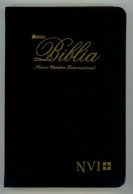 Biblia Ultrafina NVI, Piel Imitada Black (NVI Slimline Bible, Imitation Leather, Black)  -     By: Biblica