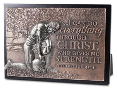 Football, I Can Do All Things, Mini Sculpture Plaque  -