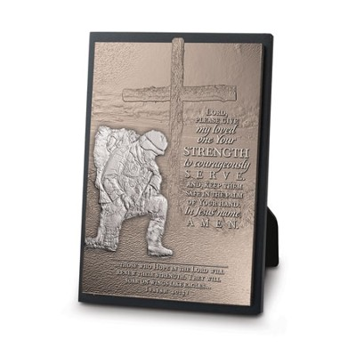 Soldier Kneeling Plaque  -
