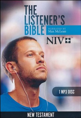 NIV Listener's New Testament: Narrated by Max McLean, 1 MP3 Disc  -