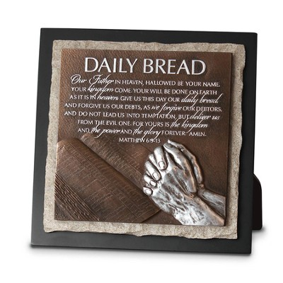 Daily Bread, Praying Hands Sculpture Plaque  -