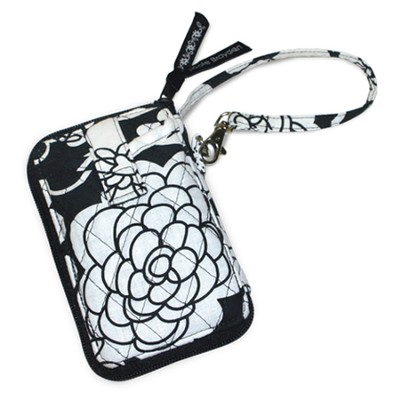 Quilted Wristlet, Ephesians 5:2, Black and White  -