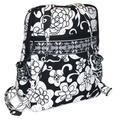 Quilted Mini Backpack, Psalm 103:5, Black and White  -