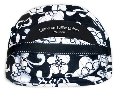 Quilted Cosmetic Bags, Matthew 5:16, Set of 3, Black and White  -