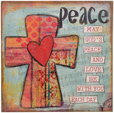 May God's Peace and Love Wall Art  -