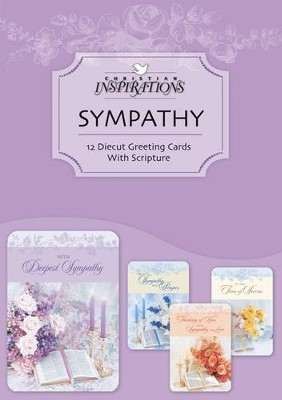 In His Comfort Sympathy Cards, Box of 12    -