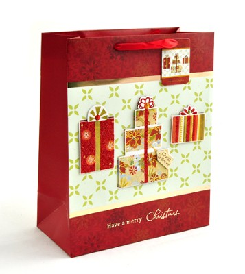 Christmas Presents Gift Bag, Large   -