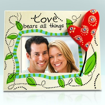 Love Photo Frame with Heart  -